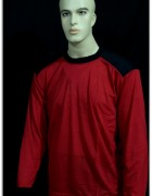 Long Sleeves T-Shirt Red Black ( Brand JAS )