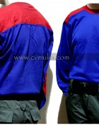 Long Sleeves Blue Red T-Shirt ( Brand Survival )