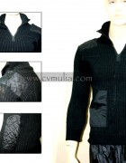 Black Plain Sweater