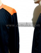 Long Sleeves Black Orange T-Shirt ( Brand Survival )