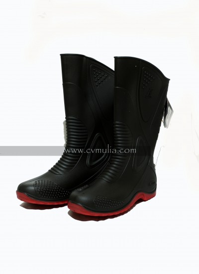 Water Boots Black Red ( AP Boots ) | CV Mulia