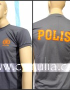 Brown Police T-Shirt ( Double Logo )