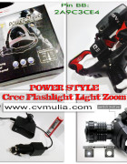 Lampu Cree Flashlight Light Zoom